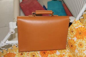 "Image of Handmade Leather Briefcase / Portfolio / Messenger / 14"" Laptop 13"" 15"" 17"" MacBook Case Bag (m05-3)"