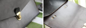 "Image of Handmade Leather Briefcase / Portfolio / Messenger / 14"" Laptop 13"" 15"" 17"" MacBook Case Bag (m05-2)"