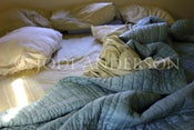"Image of Unmade Bed 8 x 12"" Metallic Paper Print"