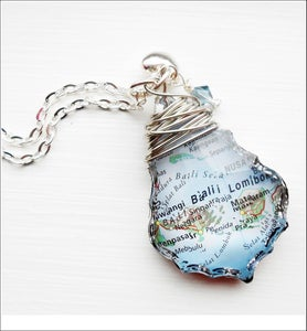 Image of Custom Chandelier Map Necklace