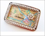 Image of Custom Blinged Out Map Belt Buckle
