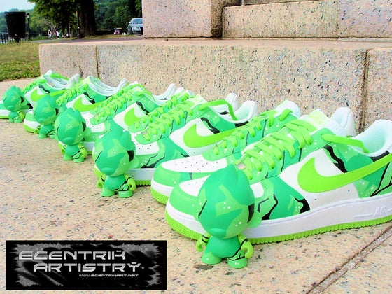 "Image of ""Emerald Sea"" Limited Edition Custom Sneaker/Munny Combo"