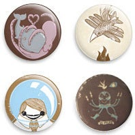 Image of a.mar.illo set of 3 button badges free shipping worldwide