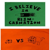 Image of LIon Vs Cat,   Reincarnation Pencil or Mistaken Bear Shirts
