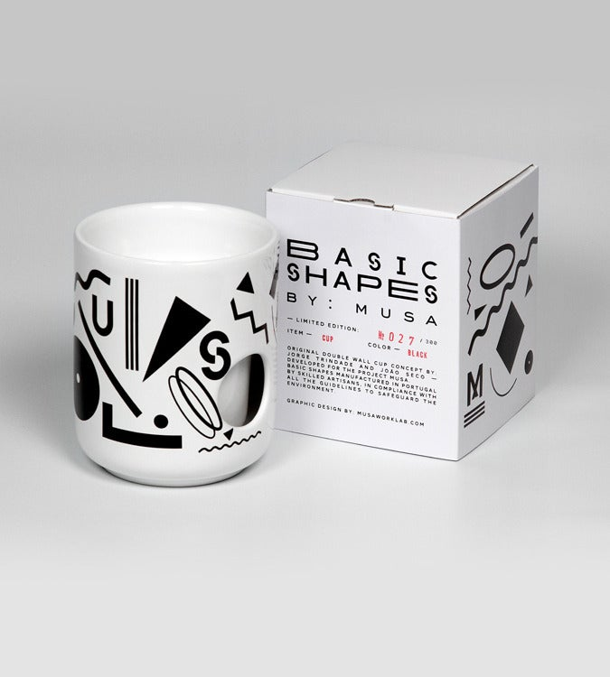 Image of Basic Shapes Cup - Black
