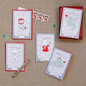 "Image of ""Mythical Creatures"" Holiday Card Set of 12"