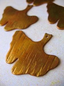 Image of Ginkgo Leaf in Golden Peridot Pendant