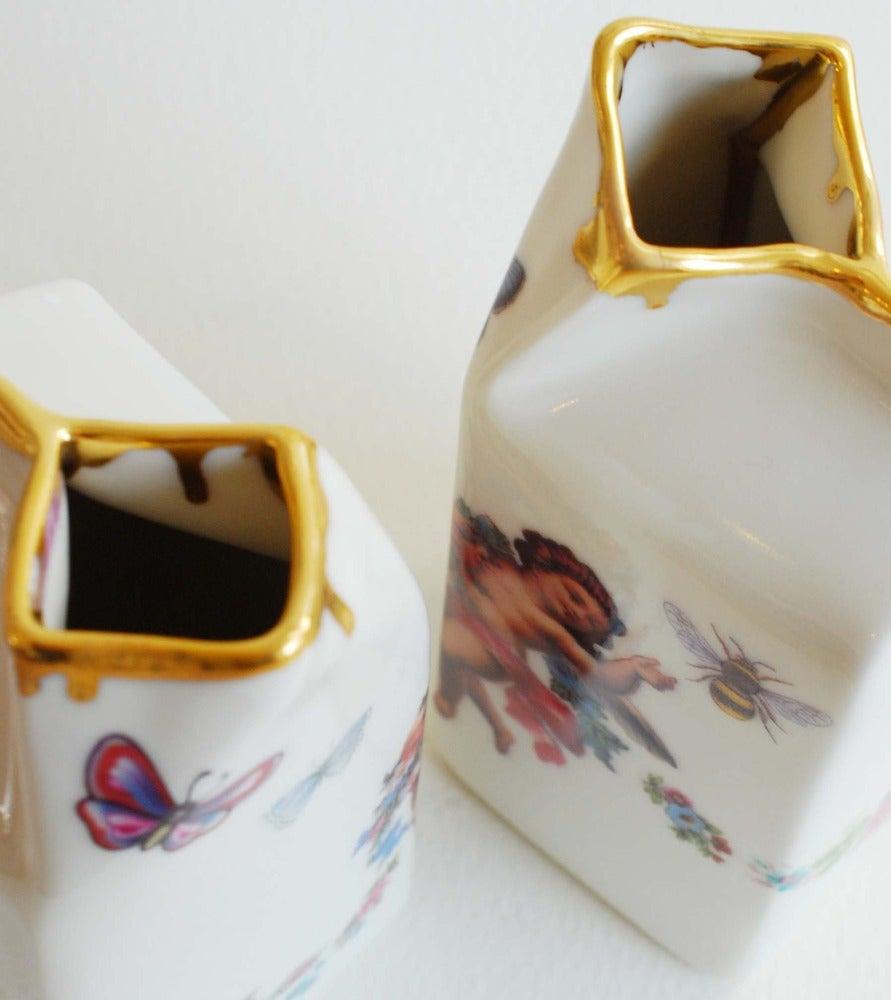 Image of Drippy Gold & Cherub Milk Jug