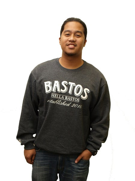Image of hb; hb established crewneck (charcoal)