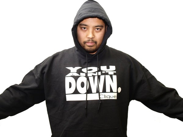 Image of hb x clique; you ain't down hoodie (black)
