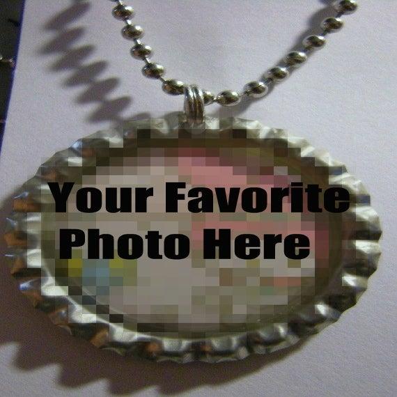 Image of Custom Bottle Cap Necklace