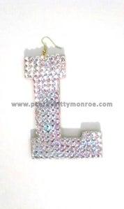 Image of Custom Letter Earrings (Block L)