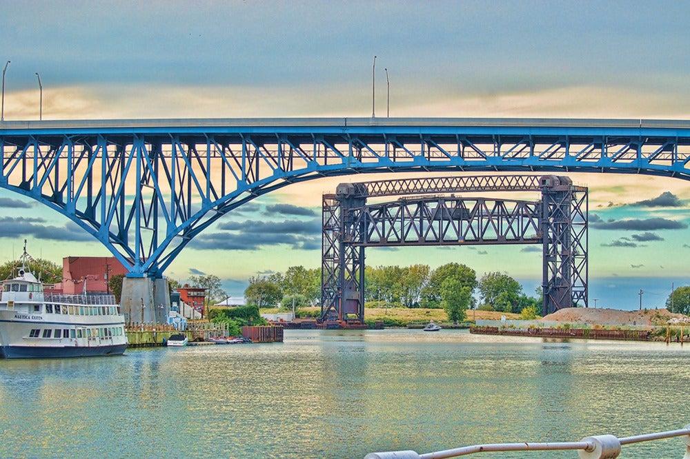 Ilovecle cleveland bridges poster for Usa motors cleveland ohio