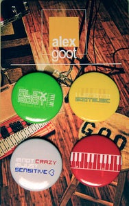 """Image of """"Goot Music"""" buttons! (4-pack)"""