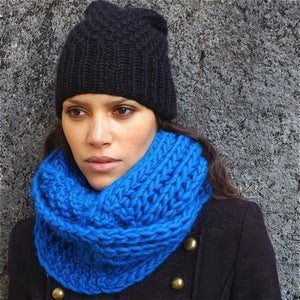 """Image of Snood """"Forget me not"""", alpaga & laine"""