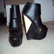 Image of Sole Boutique The Slash Platform Wedge in Black Size 6