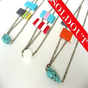 Image of Red and Blue Tag Necklace