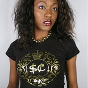 Image of Ladies Gold Foil Tee