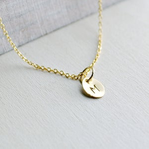 Image of Gold Filled Custom Initial Necklace