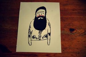 Image of Bearded Tattoo man print
