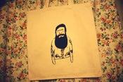 Image of Cream Bearded tattoo tote bag