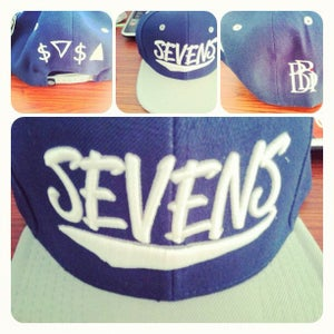 Image of Sevens x BBi SnapBack Collab ( Navy & Silver )