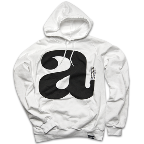 Image of LOWERCASE (WHITE HOODY)