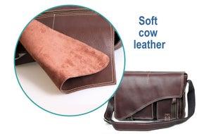 """Image of Handmade Genuine Leather Messenger Satchel / 11"""" MacBook Air or 12"""" Laptop Bag (n54)"""