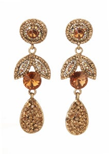 Image of Fabrege Insipred Crystal Drop Earing