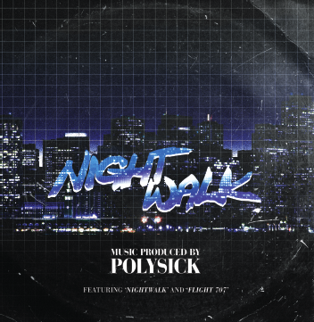 "Image of POLYSICK ""NIGHTWALK"" 7"""