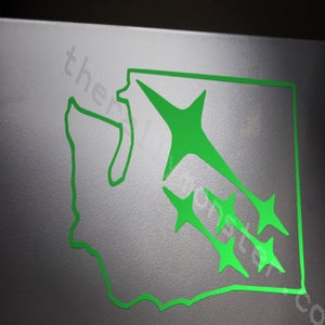 Image of Washington State Subaru Sticker [cut out]