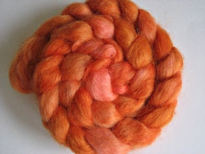 """Image of Sold Out, """"Hot Shot"""", Hand-Dyed Devon , Great for DK, Fingering and Lace Weight Spinning, Felting,"""