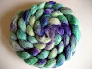 "Image of Sold Out ""Spearmint and Lily"", 4 oz, Great for Spinning, Felting, and Doll Hair"