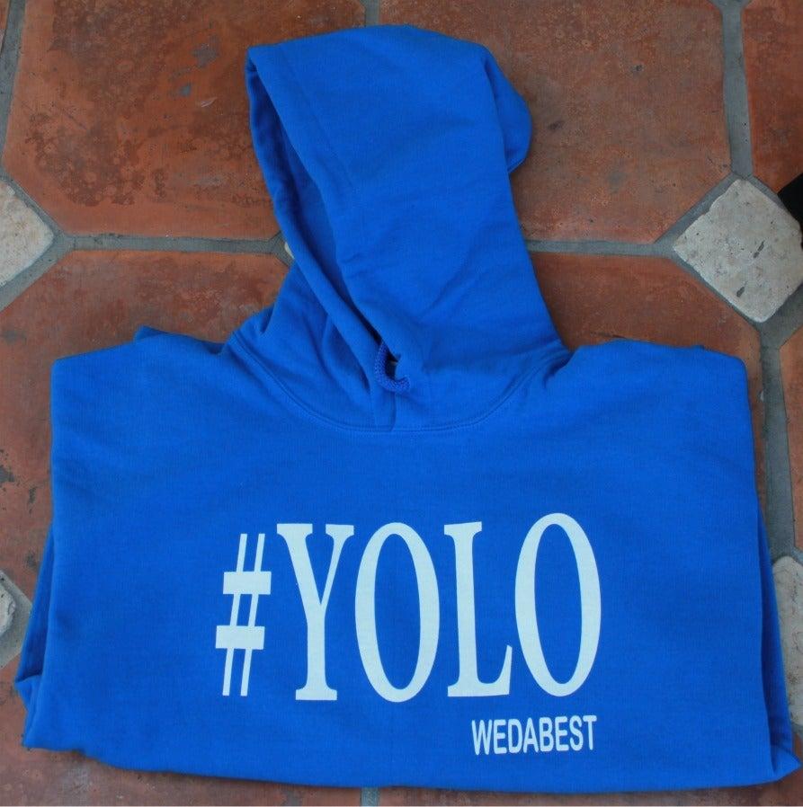 Image of Royal Blue #YOLO HOODIES