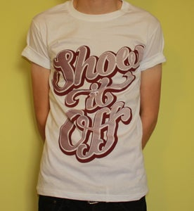 Image of Show It Off T-shirt - White + Black