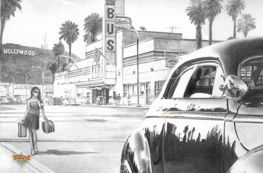 "Image of ""Bus Stop"" 11x17 print"