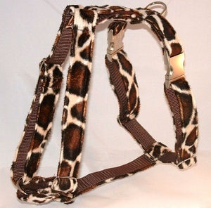Image of Giraffe Faux-Fur Dog Harness in the category  on Uncommon Paws.