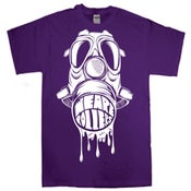 Image of We Are Rollers Gasmask Purple T-Shirt