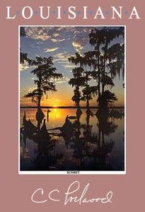 Image of Flat Lake Sunset Poster