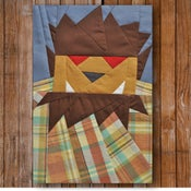 "Image of Chuck Wolfman 8"" x 10"" Quilt BLock Pattern PDF"