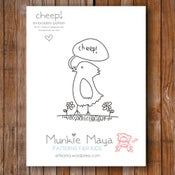 "Image of Cheep! 4"" x 5.5"" Embroidery Pattern PDF"