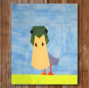 "Image of Peeping Duck 8"" x 10"" Quilt Block Pattern PDF"