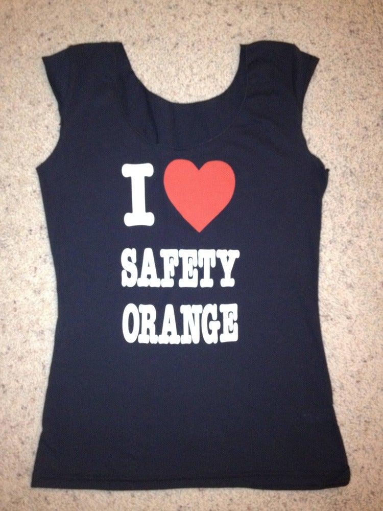 "Image of GT2- girls ""I Love Safety Orange"" Tee"