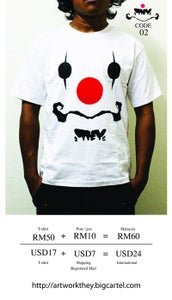 Image of THEY Artwork printed T-shirt Code 02