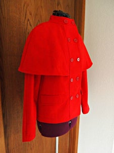 Image of Red Cape Coat