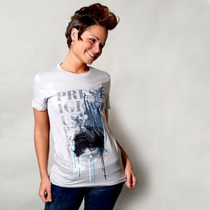 Image of Witness - Women's light gray 100% Cotton American Apparel Tee Shirt