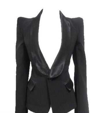Image of Puff Shoulder Blazer