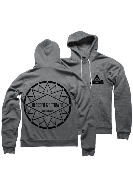 Image of Blessed UK Hoody Heather Grey
