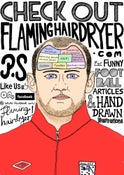 Image of Flaming Hairdryer Poster