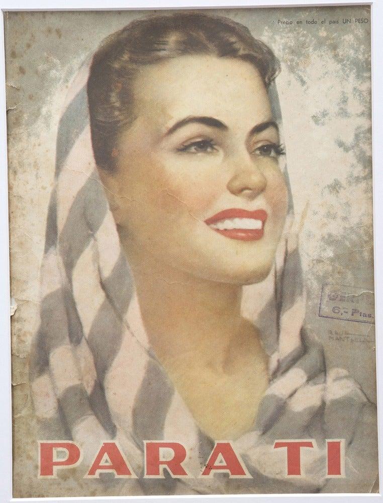 Image of Vintage mounted magazine cover Para Ti